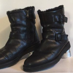 Vince inner paded black boots